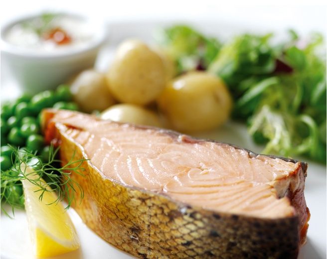 Salmon is high in omega-3