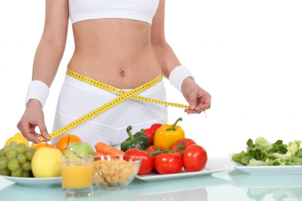 Measuring waist, weight loss