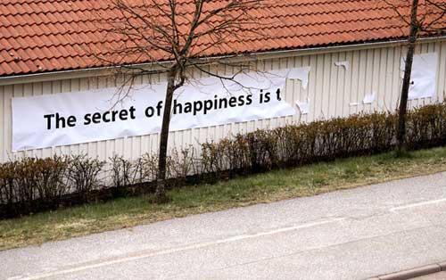 Elusive secret of happiness
